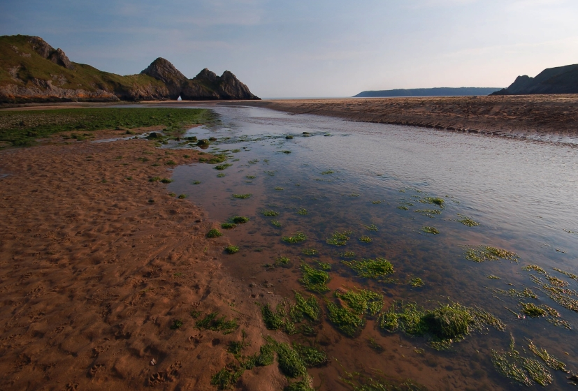 3 Cliffs Bay, półwysep Gower